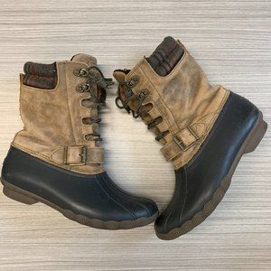 Sperry Top-Sider Leather Rain Duck Boots Size 8.5